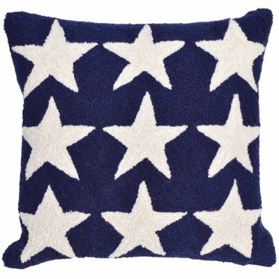 Liora Manne Frontporch Stars Square Outdoor Pillow