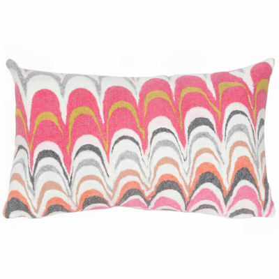Liora Manne Visions Iii Floating Ink Rectangular Outdoor Pillow