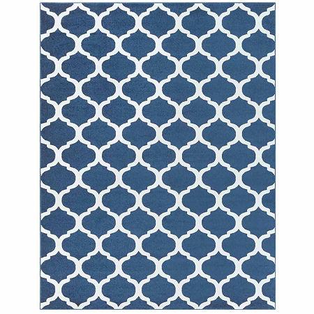 Decor 140 Graz Rectangular Indoor Rugs, One Size , Blue