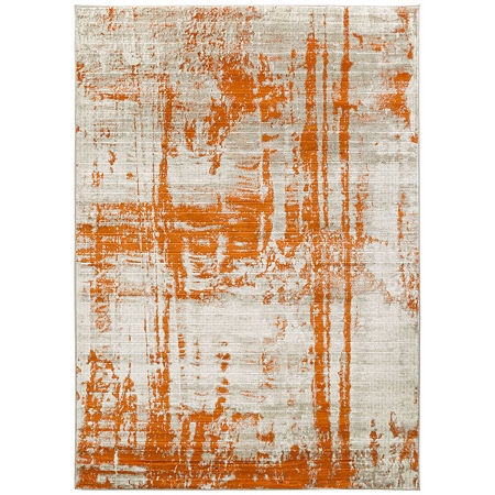 Decor 140 Terrelll Rectangular Rug, One Size , Orange