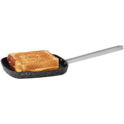 """THE ROCK by Starfrit 6"""" Personal Griddle Pan with Stainless Steel Wire Handle"""