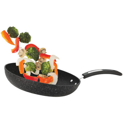"""THE ROCK by Starfrit 11"""" Fry Pan with Bakelite® Handle"""