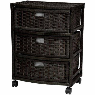 Oriental Furniture Black Lacquer Accent Cabinet