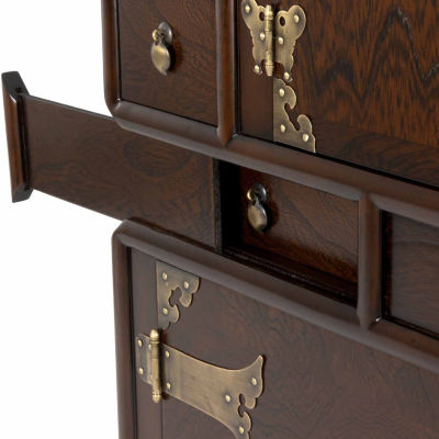 Oriental Furniture Gold Leaf Queen Anne Style Legs4-pc. 1-Drawer End Table