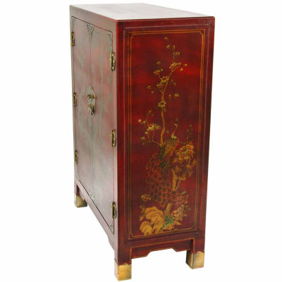 Oriental Furniture Black Lacquer Scroll Coffee Table