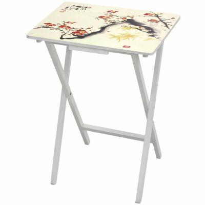 "Oriental Furniture 23"" Natural Fiber On Wheels Accent Chest"""