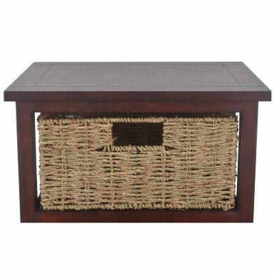 3 Basket 3-Drawer Storage End Table