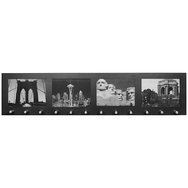 "Barska® 4-Section 4x6"" Wall-Mount Photo Frame with 12 Key Hooks"