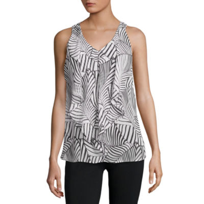 Alyx Sleeveless V Neck Woven Blouse