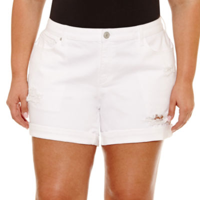 Boutique + Denim Shorts-Plus