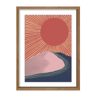Boston Warehouse Rising Sun Canvas Art
