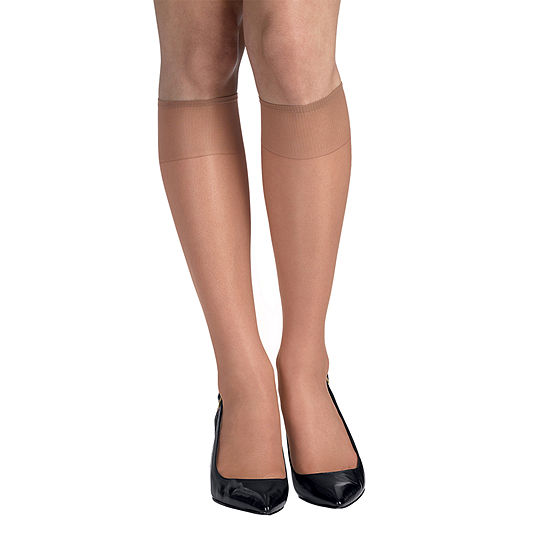 9c47ac49e70 Hanes Silk Reflections 2 pk Knee High Reinforced Toe Hosiery JCPenney