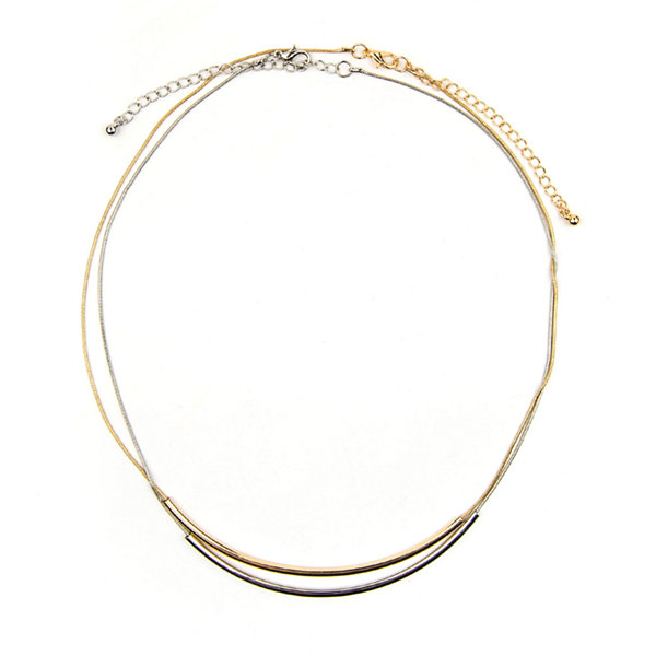 Arizona 2-pc. Two-Tone Curved Tube Necklace