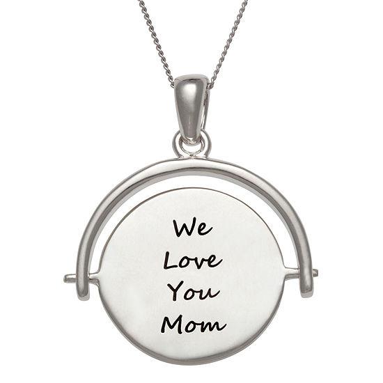 Personalized Engravable Swivel Disc Pendant Necklace