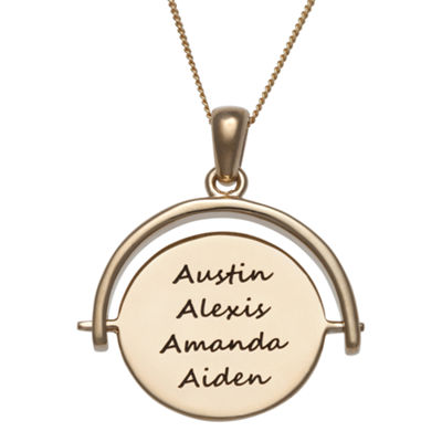 Personalized Engravable Swivel Disc Pendant Necklace