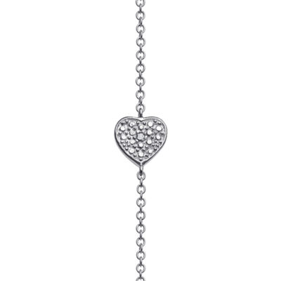 Personalized Sterling Silver Diamond-Accent Heart Name Bar Necklace
