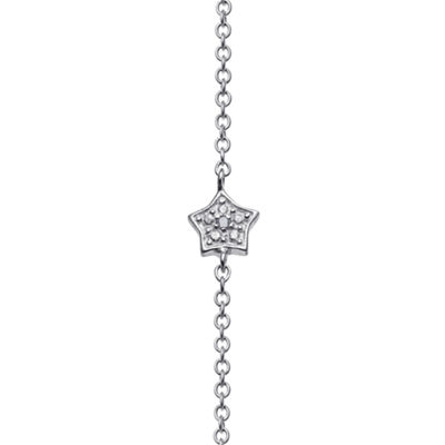 Personalized Sterling Silver Diamond-Accent Star Name Bar Necklace