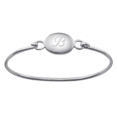Personalized Kids Engraved Initial Bangle Bracelet