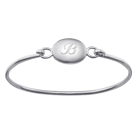 Personalized Kids Engraved Initial Bangle Bracelet