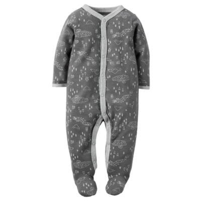 Carter's® Long-Sleeve Grey Forrest Sleep & Play - Baby Boys newborn-9m