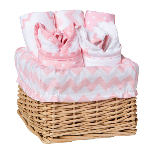Trend Lab® Sky 7-pc. Feeding Basket Gift Set - Pink