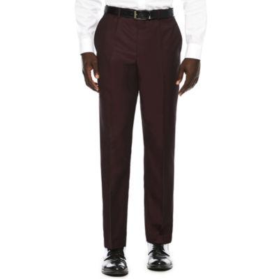 Men's JF J. Ferrar® Enlightened Merlot Flat-Front Straight-Leg Slim-Fit Suit Pants