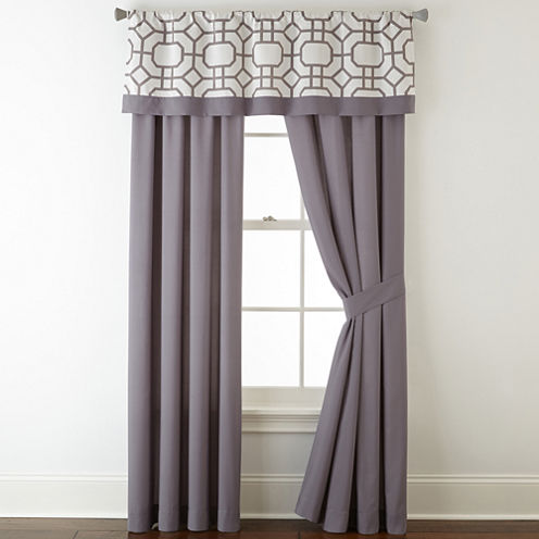Studio™ Kenmare 2-Pack Rod-Pocket/Back-Tab Lined Curtain Panels