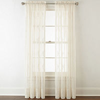 Deals on Home Expressions Lisette Rod-Pocket Sheer Panel