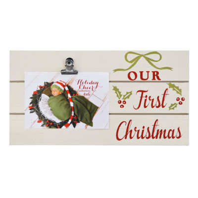 New View Our First Christmas Clip 1-Opening Tabletop Frame