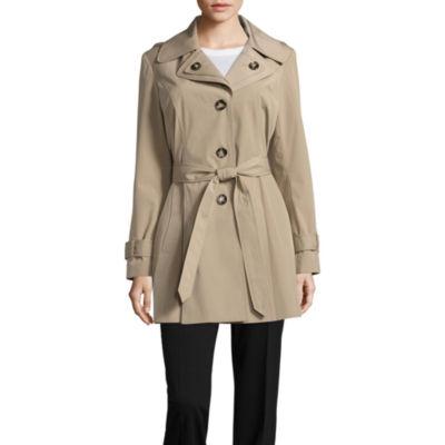 Liz Claiborne Belted Lightweight Raincoat