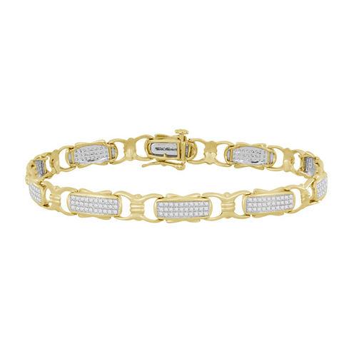 Womens 3/4 CT. T.W. White Diamond 10K Gold Tennis Bracelet