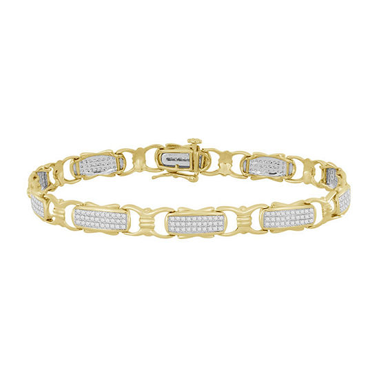 3 4 Ct Tw Genuine White Diamond 10k Gold 7 Inch Tennis Bracelet