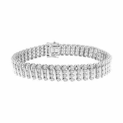 2 CT. T.W. Genuine White Diamond 14K Gold 7 Inch Tennis Bracelet