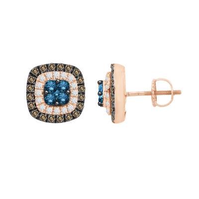 1 CT. T.W. White Diamond 10K Gold Drop Earrings