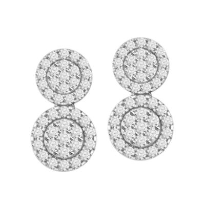 1 CT. T.W. Round White Diamond 10K Gold Stud Earrings