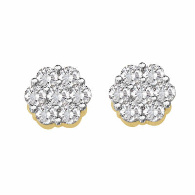 1/7 CT. T.W. Round White Diamond 10K Gold Stud Earrings
