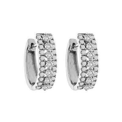 2 CT. T.W. White Diamond 10K Gold Drop Earrings