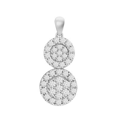 Womens 5/8 CT. T.W. White Diamond 10K Gold Pendant Necklace