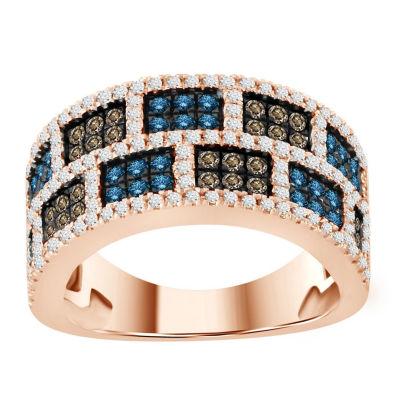 Womens 1 1/4 CT. T.W. Genuine White Diamond 10K Gold Band