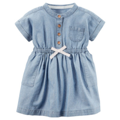 Carter's Short Sleeve Floral A-Line Dress - Baby Girls