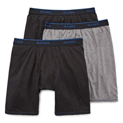 Hanes Men's ComfortBlend® FreshIQ™ ComfortFlex® Waistband Long Leg Boxer Brief 3-Pack - Big