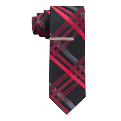 JF J.Ferrar Plaid Tie XL