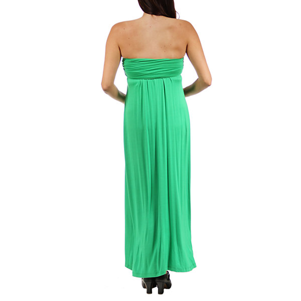 24/7 Comfort Apparel Maxi Dress-Maternity