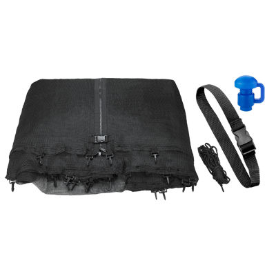 Upper Bounce Trampoline Replacement Enclosure Net:Fits For 14 ft Works with multiple amount of poles - Pole Caps Included
