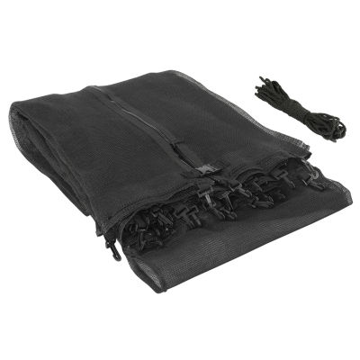 Upper Bounce Trampoline Replacement Enclosure Safety Net: Fits For 8 ft Using 2 Arches (NET ONLY)