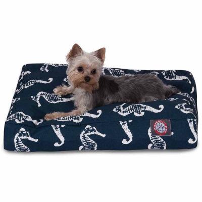 Majestic Pet Sea Horse Rectangle Dog Bed