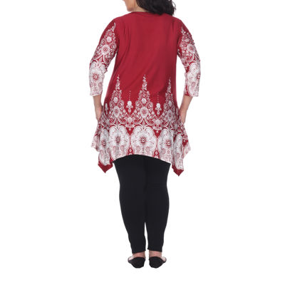 White Mark Dulce Tunic Top-Plus