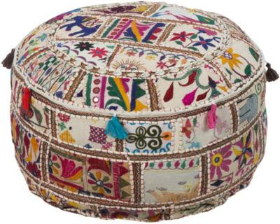 Siena Geometric Pouf Ottoman