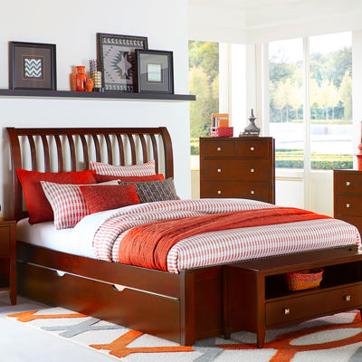 Possibilities Rake Sleigh Bed with Trundle