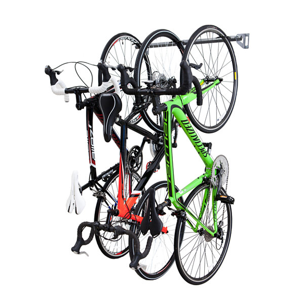 Monkey Bars 3 Bike Storage Garage Wall Rack